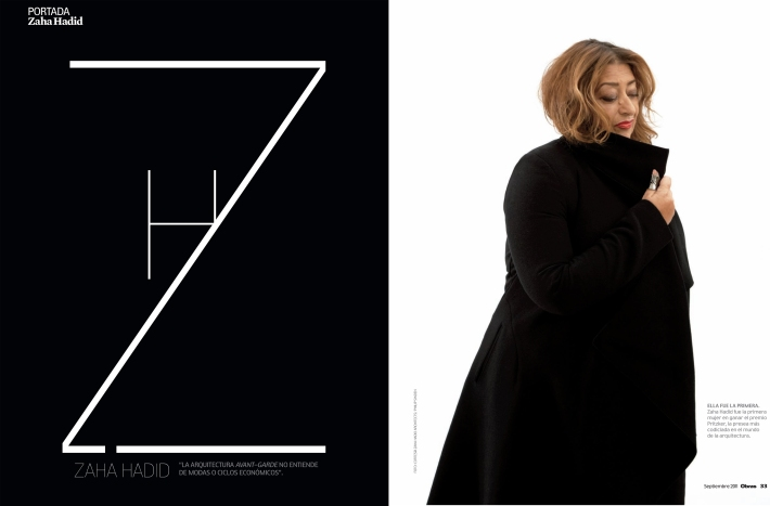 interview to Zaha Hadid in Glasgow, the only female recipient of the Pritzker prize
