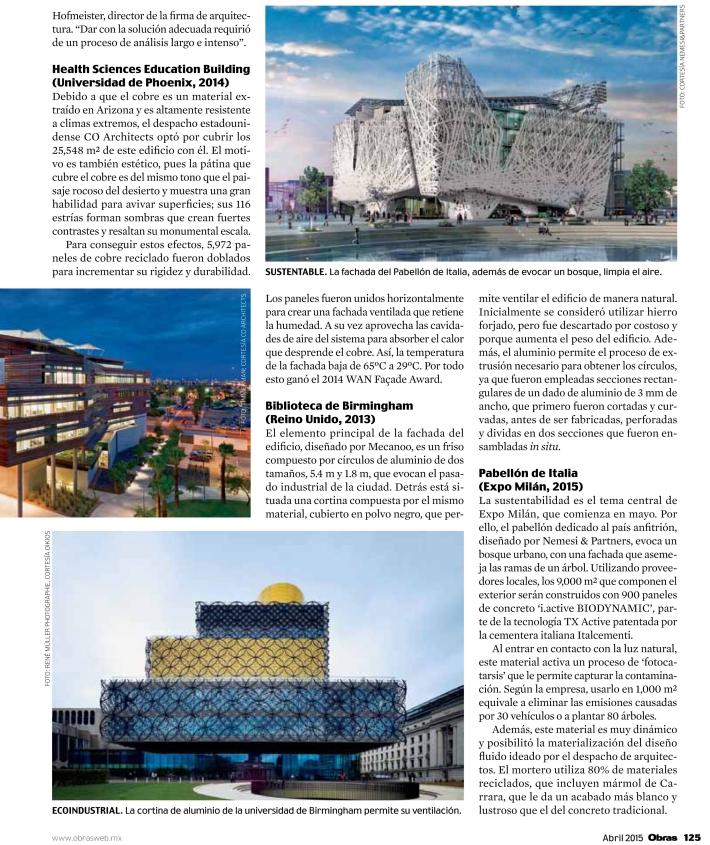 Fachadas en la arquitectura