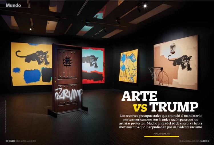 Artistas contra Donald Trump